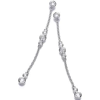 Cavendish French Bubble Drop Earrings - Silver
