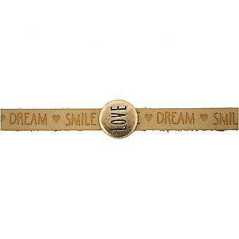Dames - armband - liefde - bruin - zand - magnetische lock - WENSEN-