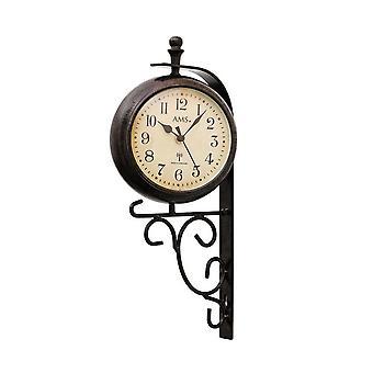 double-sided wall clock radio AMS - 5961