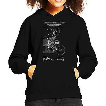 Movie Projector Patent Blueprint Kid's Hooded Sweatshirt