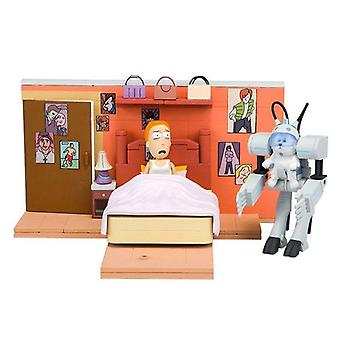 Rick and Morty construction set call me snow ball Kit, multi colored, from plastic, 129 items.