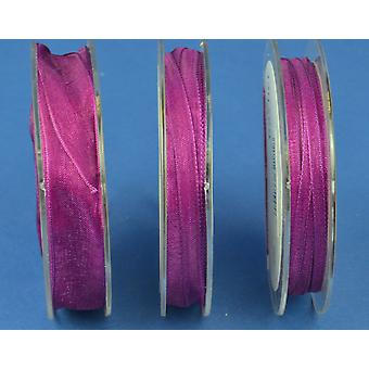 7mm Rich Purple Organza Craft Ribbon - 10m | Ribbons & Bows for Crafts
