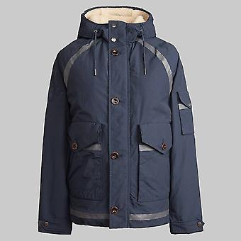 Pretty Green Zip Through Hooded Jacket Navy