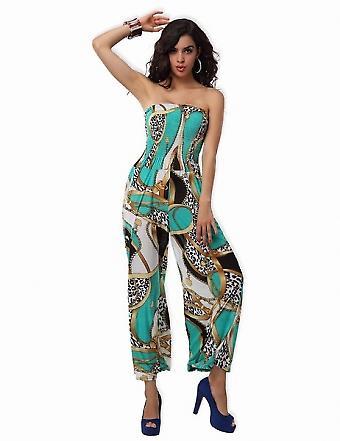 Waooh - Mode - Combinaison longue pantalon large motif ruban
