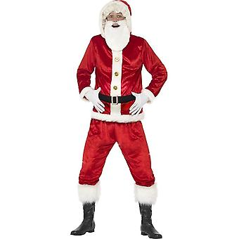Blid Santa drakt, med jakke med hette, Medium