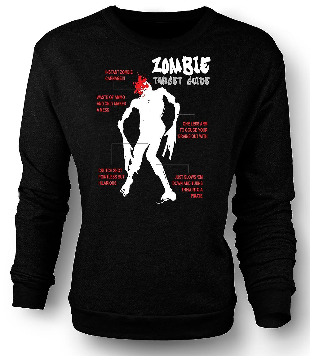 Guide de mens Sweatshirt Zombie cible - Funny