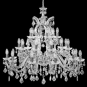 Searchlight 3314-30 Marie Therese 30 Lt Chrome Chandelier