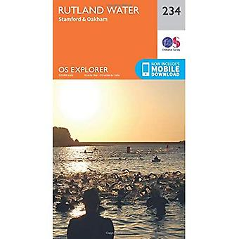 Oakham, Stamford e água de Rutland Explorer OS mapa (234)