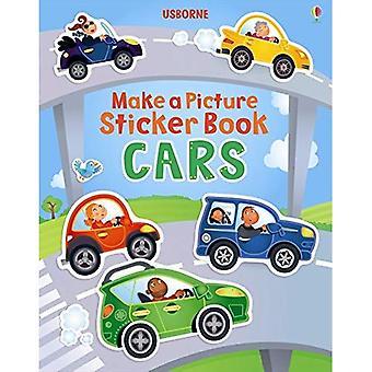 Fazer uma foto da etiqueta livro carros (Usborne faça um álbum de figurinhas imagens)