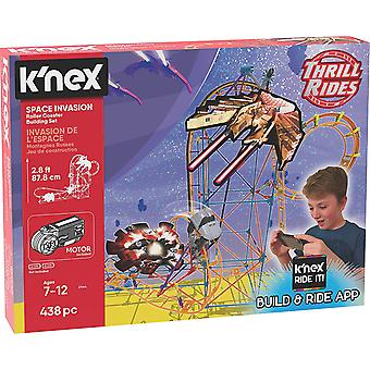 K'Nex Thrill Rides Space Invasion Roller Coaster 7+ 438 Pieces
