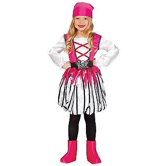 Girls Pink Caribbean Pirate Fancy Dress Costume