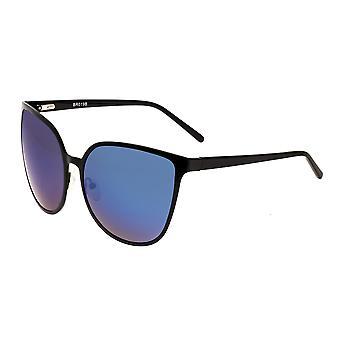 Bertha Ophelia Polarized Sunglasses - Black/Purple-Blue