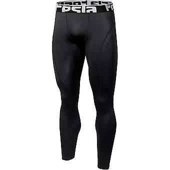 Tesla YUP33 Thermal Winter Gear Baselayer Compression Pants - Black/Black
