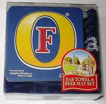 Fosters Bar Towel and 10 Beermats (pp)