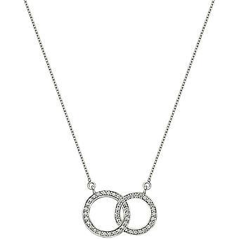 Bella Linked Circle Cubic Zirconia Necklace - Silver