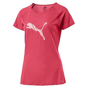 تي بوما الأساسية قصيرة الأكمام النسائي السيدات تشغيل لياقة القميص الوردي