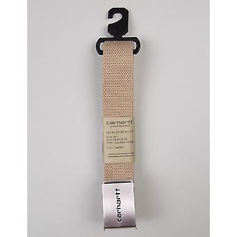 Carhartt WIP Clip Belt Chrome - Leather
