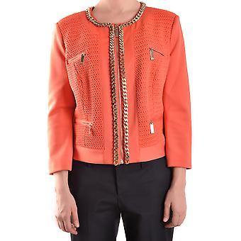 Elisabetta Franchi Orange Polyester Blazer