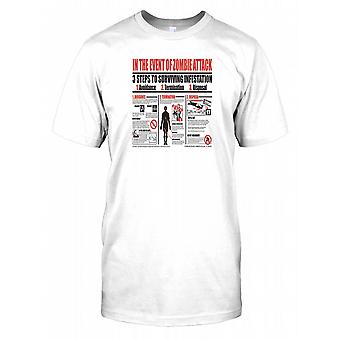 In The Event Of Zombie Attack - 3 Steps To Survive Infestation Mens T Shirt