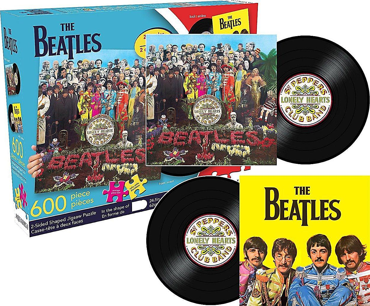 Beatles Sgt. Pepper 600 piece shaped double sided jigsaw puzzle (nm)