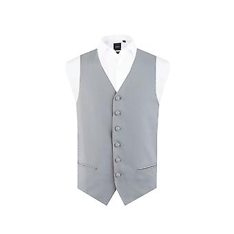 Dobell Mens Dove Grey Morning Suit Wedding Waistcoat Regular Fit Single Breasted