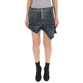 Rick Owens Blue Denim Skirt