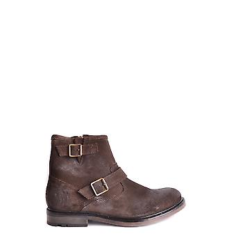 Base London Brown Suede Ankle Boots