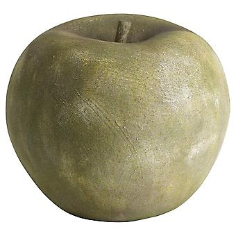 Large Apple Outdoor Aged Stone Ornament