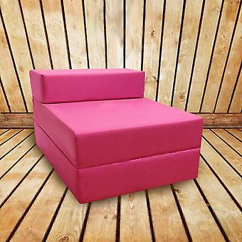 Water Resistant Fold Out Single Z Bed Sofa - Pink