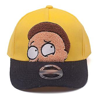 Rick and Morty Cap Morty Chenille Flat Embroidery Curved Bill Yellow BA518313RMT