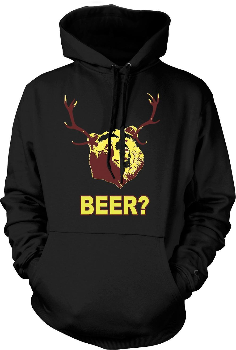 Mens Hoodie - BEER Bear Funny Drinking