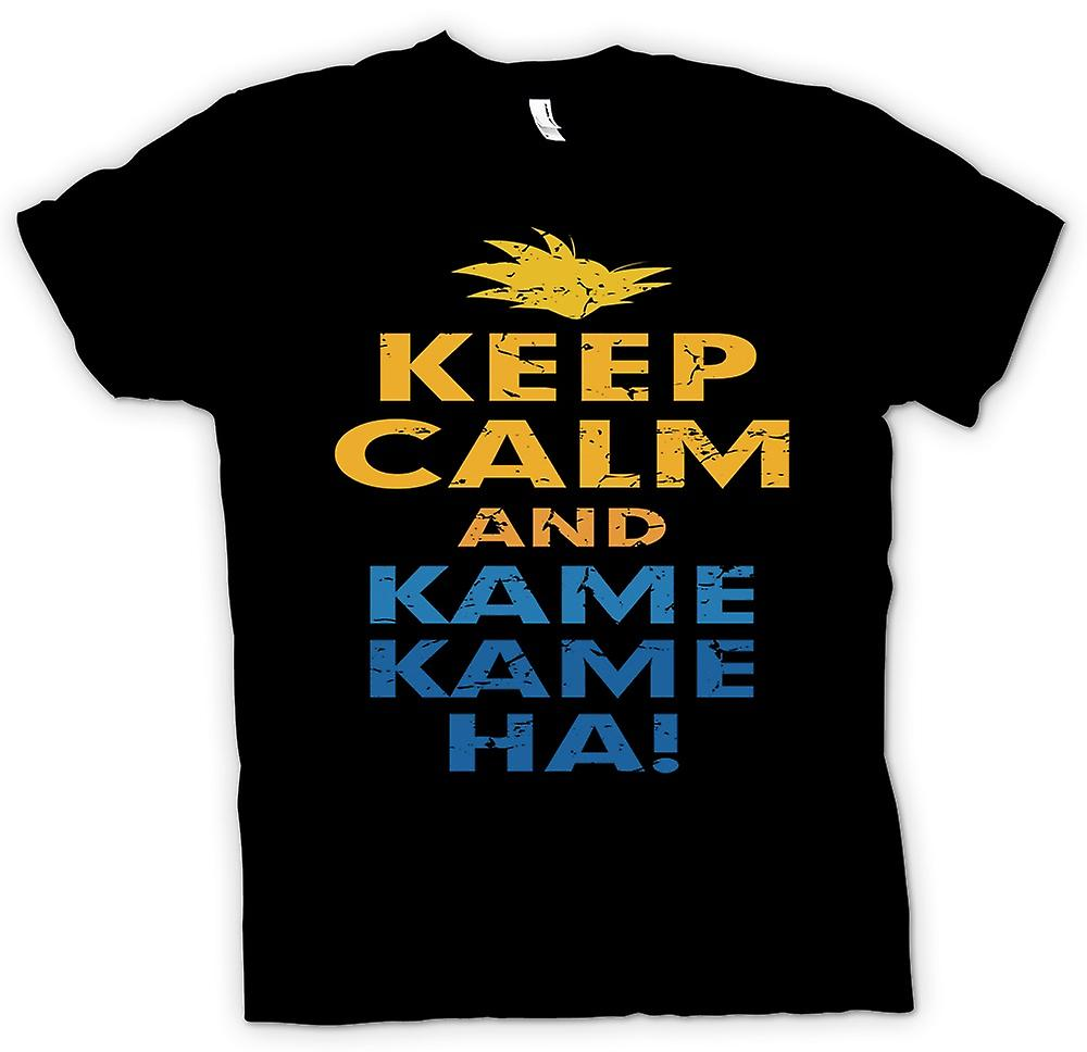 Mens T-shirt - Keep Calm And Kame Kame Ha - Dragonball Inspired