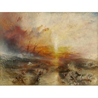 The slave ship, J. M. W. Turner, 50x38cm