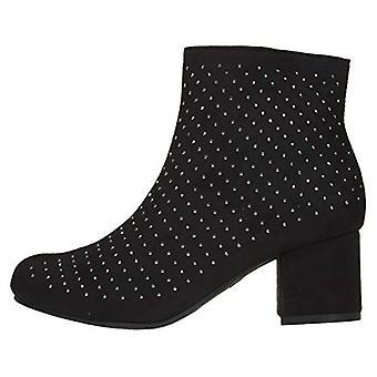 Vrouwen microsuede enkellaarzen laarzen met strass slip-on mode schoenen