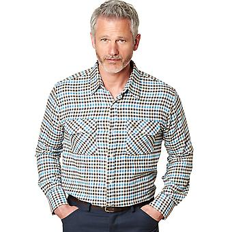 Mens Chums Long Sleeve Warm Handled Town And Country Check Shirt