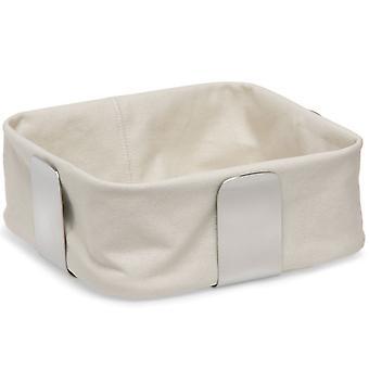 Bread basket stainless steel matt, cotton inlay sand