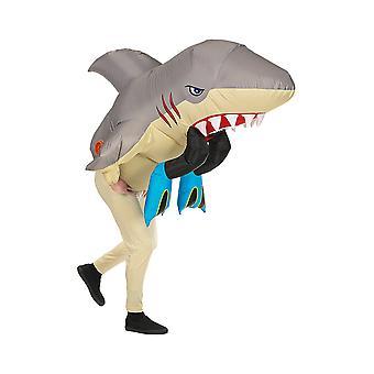 Shark Attack (Airblåst uppblåsbar oversized kostym W mask)