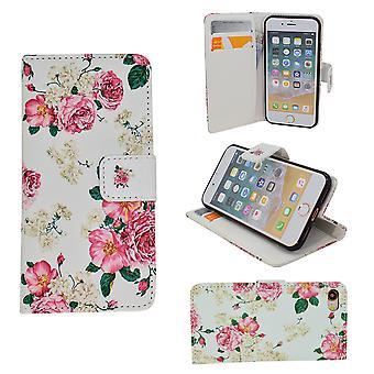 Iphone 5/5s/SE caisse en cuir portefeuille-fleurs