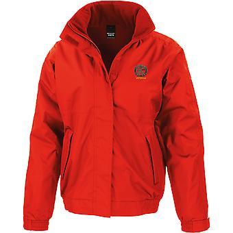 Small Arms School bordado veterano - con licencia British Army bordado chaqueta impermeable con fleece interior