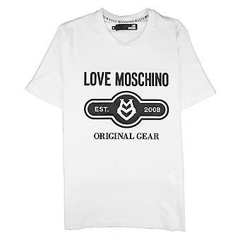 Love Moschino Original Gear T-shirt Bianco