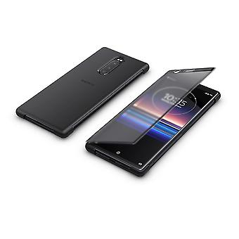 Official Sony Xperia 1 2019 Style Cover Touch Flip Case SCTI30 – Black