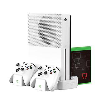 Supporto di ricarica verticale e twin pack batteria ricaricabile - bianco (xbox one)