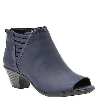 Easy Street Women's Paris Ankle Boot, Navy sup sd/tx, 6.5, Navy, Size 7.5  W US