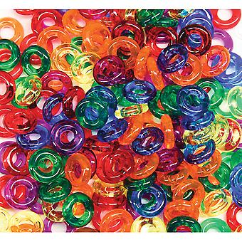 Stringing Ring Beads 6Oz Bag Assorted Colors 3511