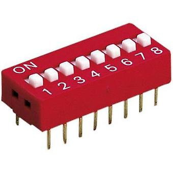 Diptronics DS-04V Multi DIP Switch 4-pole (not switched) 100 mA/50 V/DC, (switched) 50 mA/24