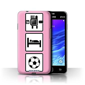 STUFF4 Case/Cover for Samsung Z1/Z130/Football/Soccer/Pink/Eat/Sleep