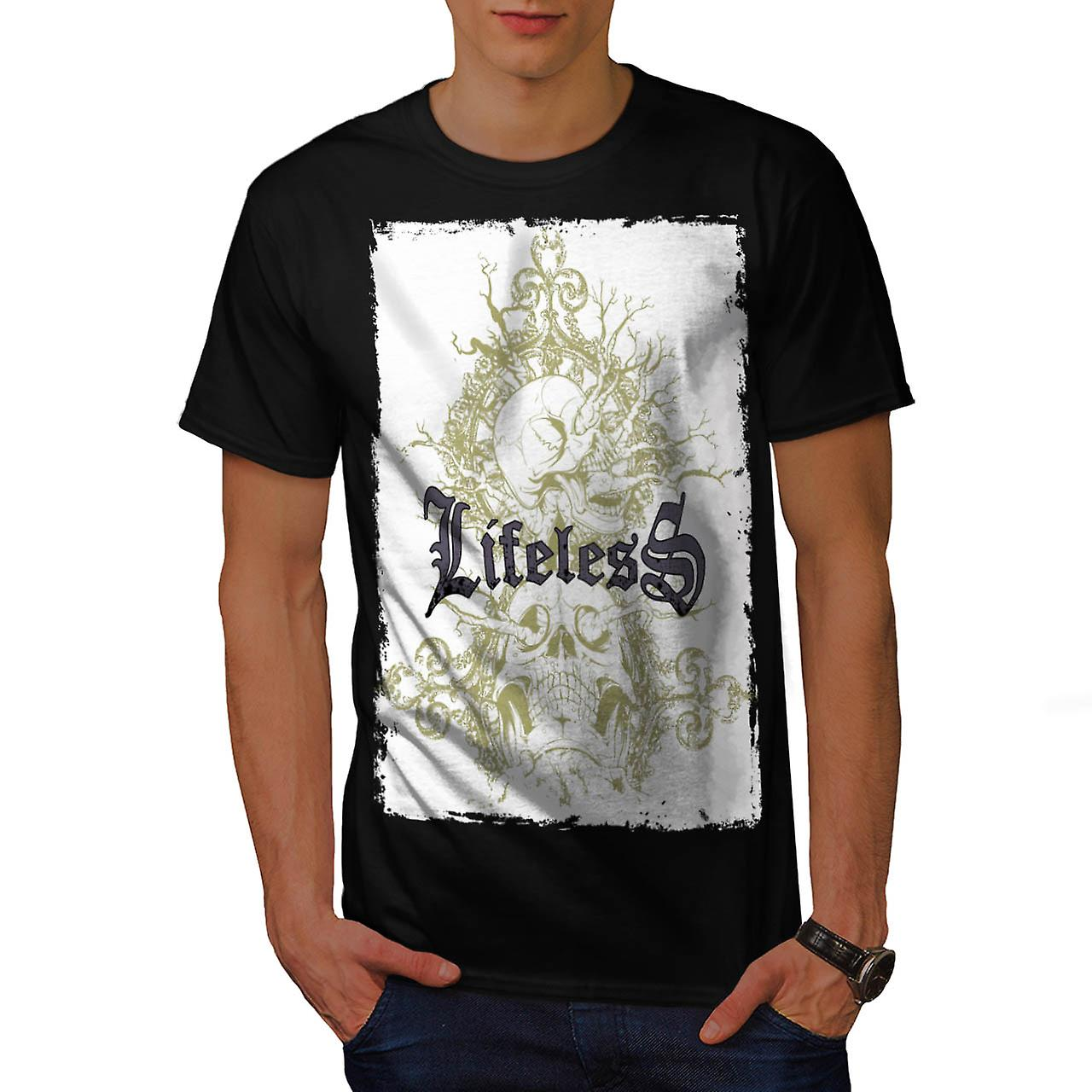 Lifeless Soul Skull Grave Yard Men Black T-shirt | Wellcoda