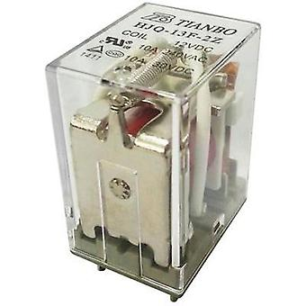 Plug-in relay 12 Vdc 15 A 2 change-overs Tianbo Electronics HJQ-13F-2Z -12VDC 1 pc(s)