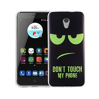 Cell phone case for ZTE blade V7 cover case protective bag motif slim silicone TPU dont touch my Phone Grün