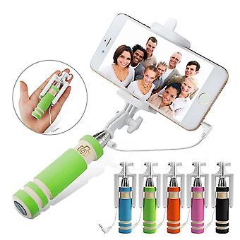 ONX3 (zielony) Huawei P10 Plus uniwersalny regulowany Mini Selfie Stick kieszeń sklejony Monopod wbudowanego gripa